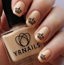 Nail WRAPS Nail Art Water Transfers Decals - Royal Crown Two - S817