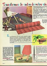 I- Publicité Advertising 1960 Les Tapis végétaux Benoit