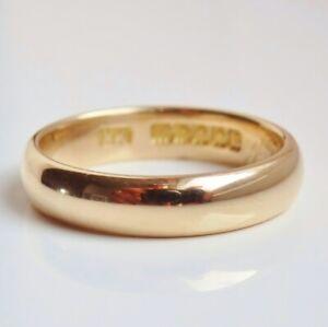 Fine Antique Scottish 18ct Gold Glasgow Wedding Ring c1923; UK Size 'M'