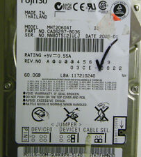 60GB Fujitsu MHT2060AT Laptop IDE Hard Drive P/N CA06297-B036