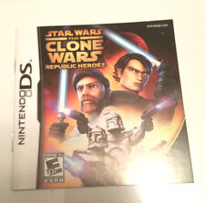 Star Wars The Clone Wars Republic Heroes Instruction Booklet Nintendo DS Gameboy