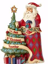 JIM SHORE~15th ANNIV COMMEMORATIVE SANTA~CRYSTAL SWAROSKI~CHRISTMAS TREE~4059000