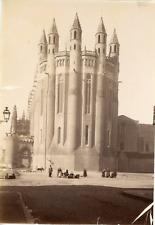 France, Albi, cathédrale Sainte-Cécile, vue générale  Vintage albumen print,