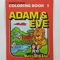 Adam & Eve (Stories That Live) Forsberg, Glen Children's Coloring Book Vintage
