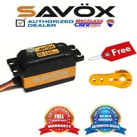 Savox SC-1251MG High Speed Low Profile Servo + Free Aluminium servo horn Gold