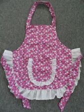 CHILD'S APRON  IN PINK WITH RABBITS SIZE 5 - 6 - 7