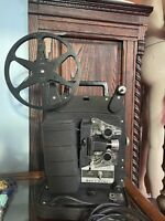 VTG 1950s Bell & Howell Auto Load 8MM Film Projector Model 256 Works! Needs Bulb