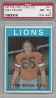 1972 OPC CFL football card #41 Trev Ekdahl, British Columbia Lions PSA 8