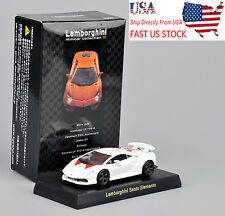 USA Sell Kyosho White Lamborghini Sesto Elemento Model 1/64 Diecast Car Vehicles