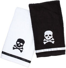 Sourpuss Skull Bathroom Hand Towel Set Retro Gothic