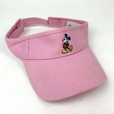 MICKEY MOUSE Light PINK Sun VISOR Hat CAP Cotton Official OSFM Disney Parks