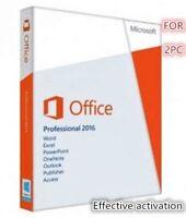Microsoft Office Professional 2016 DVD Brand New Genuine - 2PC Install,BRAND NEW