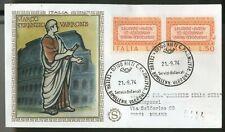 ITALIA 1974 - FDC FILAGRANO GOLD - MARCO TERENZIO VARRONE - raccomandata