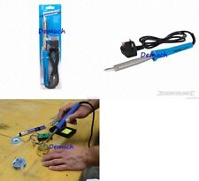 New Silverline SOLDERING IRON 100W Bent Tip UK Mains Plug Fitted Automotive Tool