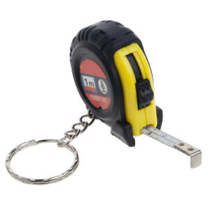 Retractable Ruler Tape Measure Key Chain Mini Pocket Size Metric 1m Random Color