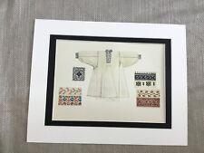 Antique Fashion Print Romanian Traditional Costume Shirt Wallachia Empire