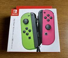 Nintendo Switch Joy-Con Neon Green/Neon Pink - Japan Import (US Seller Ship Now)