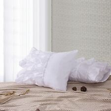 Empire Home Solid Ruffled Bed Pillow Cases - Set of Two 9 Colors
