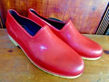 Sloggers,Rubber ,Water Shoes, Red, Slip-0ns,Clogs, Sz 8