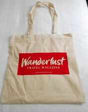 WANDERLUST TRAVEL CANVAS TOTE BAG - NEW