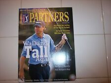 PGA TOUR PARTNERS MAGAZINE SIGNED PAUL AZINGER AUTOGRAPH MARCH/APRIL 2001