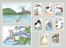 Grenada #1603-1612 Birds 8v & 2v S/S Imperf Proofs