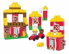 Fisher PRICE Kids First Mega Bloks Farm Building And Construction Toy 70Pcs