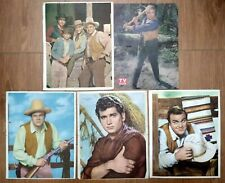 VINTAGE BONANZA LANDON ROBERTS GREENE BLOCKER TV POSTER LOT ARGENTINA 1960's