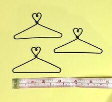 """12X Mini Wire Coat Hangers 3"""" (Heart on Top)"""
