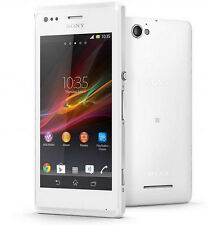 "New Unlocked Sony Xperia M C1905 4GB Smartphone 5MP 4.0"" NFC GPS White"