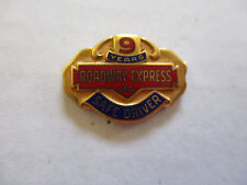 vintage Roadway Express 9yr Trucker Trucking Safety Award Safe Driving Pin