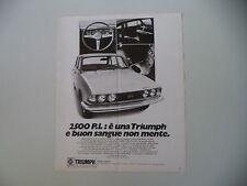 advertising Pubblicità 1971 TRIUMPH 2500 PI