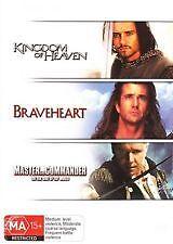 KINGDOM OF HEAVEN + BRAVEHEART + MASTER COMMANDER - BRAND NEW, SEALED 3 DISC DVD