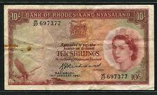 Rhodesia & Nyasaland 1961, 10Shillings, P20b, VF