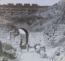 The Great Wall of China, Magic Lantern Glass Slide (Vintage Keystone Image)