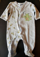 Little Me Blue Dragon Print One Piece Snap Front Sleeper 3mos