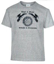 T-Shirt, Wikinger, Hugin, Munin