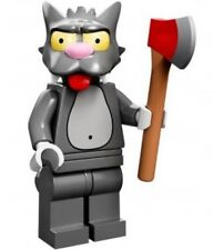 The Simpsons Lego collectible minifig Scratchy (cat) with ax