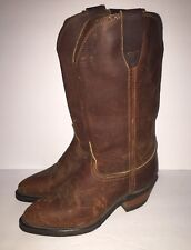 DURANGO WOMENS DISTRESSED BROWN LEATHER COWBOY WESTERN BOOTS SZ 7