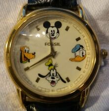 NEW Disney Fossil Mickey Mouse Pluto Goofy Donald Duck Limited Edition Watch NIB