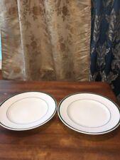 """William Sonoma Brasserie Green Dinner Plates, 11"""", Set/2 VGC"""