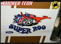 2X SUPER ROO SUPERROO XW GT HO FORD FALCON VINYL STICKER DEACL PAIR RESTORATION
