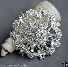 Rhinestone Crystal Brooch Jewelry Pin Wedding Invitation Cake Decoration BR072