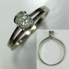 807 - Aparter Einsteiner Ring 585 Weißgold - Brillant etwa 0,25 ct. - 1118