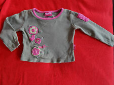 T-shirt kaki imprimé fleurs Manches longues BARBIE Taille 2 ans / 24 mois