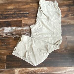White Sierra 2XL Hiking Pants Convertible Zip Off Khaki Lightweight Fishing