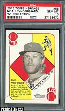 2015 Topps Heritage '51 Collection Noah Syndergaard RC Rookie PSA 10 STOCK PHOTO