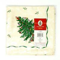 "Spode Christmas Tree Pattern Linen Napkins Set Of 4 20"" x 20"" ~ New  Sealed"