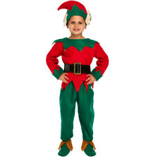 CHILD ELF COSTUME CHRISTMAS FANCY DRESS BOYS 5 PC SANTA'S HELPER XMAS LARGE