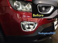 Chrome Front Fog Light Bezel cover trim For JEEP compass 2014 2015 Limited Only
